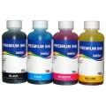 Комплект водорастворимых чернил InkTec для заправки Epson L100, L110, L120, L200, L210, L300, L350, L355, L550, L555 (Фабрика печати) 100 мл x 4