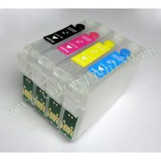 Перезаправляемые картриджи для Epson Stylus S22, SX125, SX130, SX420W,..