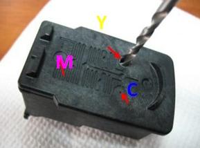 Колор 441 картридж цвета схема Как заправить картриджи Canon PG-440 Black, CL-441
